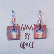 Amazed by Grace Cross Earrings