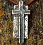 Believer Sterling Cross Necklace for Men