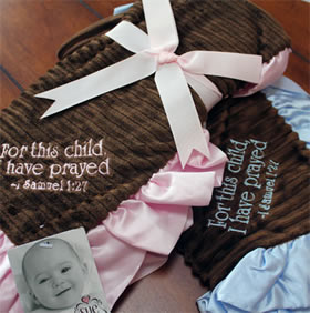 Minky Baby Blanket with Scripture