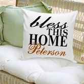 Personalized Family Throw Pillow