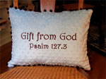 Gift from God Scripture Pillow for Child, Baby Baptism Gift idea