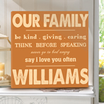 Our Family Personalized CAnvas
