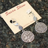 Handcast Silver Charm Earrings by Susan Shaw