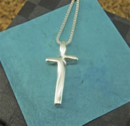 Complete in Christ Sterling Silver Cross Necklace