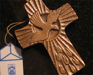 Holy Spirit Bronze Wall Cross