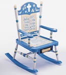 Jesus Loves Me Rocking Chair, baptism gift for boy