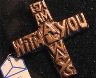 I Am With You Always Bronze Cross