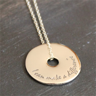 I can Make a Difference Sterling Pendant