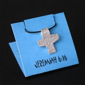 Jeremiah 6:16 Cross Necklace