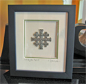 Jerusalem Cross Ornament Framed