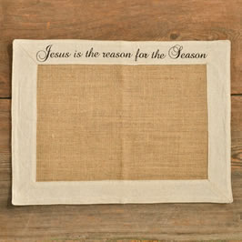 christian christmas placemat - jesus is the reason for the season