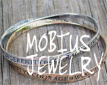 Mobius Bracelets in Sterling Silver and 14k Gold