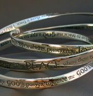 Christian Jewelry and Inspirational Prayer Mobius Bracelets