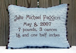Personalized Baby Birth Announcement Pillow, unique baby gift