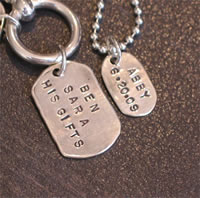 Custom Dog Tags -  Dog tags with scripture