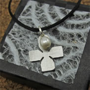Cross Necklace with Pearl