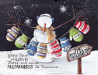 Snowman with Personalized Mittens Light Box Insert