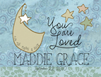 Personalized You are Loved Light Box Insert