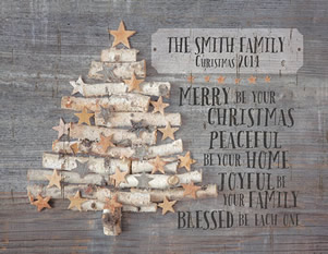 Christian Christmas Decor - Jada Venia Personalized Christmas Insert