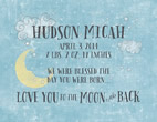Personalized Love You TO the Moon Light Box Insert