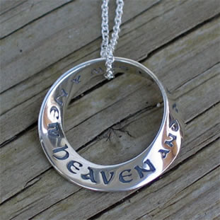 Revelation 21 A New Heaven Mobius Necklace