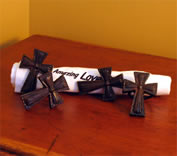 Wrought Iron Cross Napkin Rings