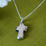 Sterling Silver Christian Cross Necklace