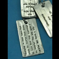Personalized Dog Tag with Scripture or Inspirational Saying