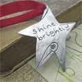 Pewter Shine Brightly Star Christmas Ornament