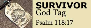 Survivor Jewelry - God Tag from Visible Faith Jewelry