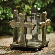 Iron Cross CAndle Holder